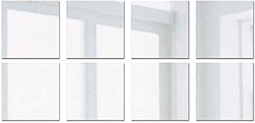 aipipl 16/32 Uds.Pegatina de Espejo para Pared, 3D extraíble Cuadrado Autoadhesivo PVC Azulejos Espejo Pegatinas de Pared calcomanías Arte decoración de Bricolaje para el baño de la Oficina en casa
