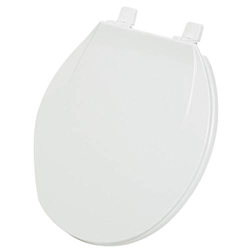 Do It Best Global Sourcing - Toilet Seats 445352 Home Impressions Round Plastic Toilet Seat, White