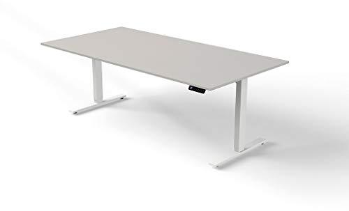 Froschkönig24 Move 3 - Mesa de pie y Asiento (Altura Regulable, Varios tamaños), Color Gris, 200 x 100 cm