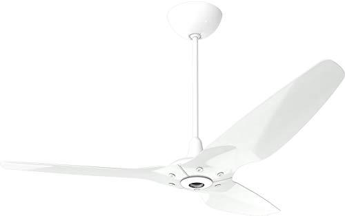Big Ass Fans Haiku Indoor 60' Smart Ceiling Fan, Aluminum White, Universal Mount: White, SenseMe and Haiku App, Premium Remote Control | Alexa, Google and ecobee Compatible