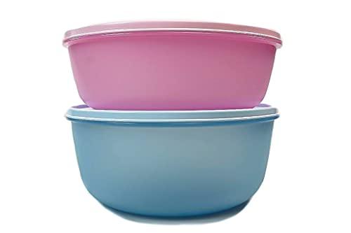Tupperware Kühlschrank Clarissa XXL 3L rosa + 4L hellblau Hit-Parade Panorama