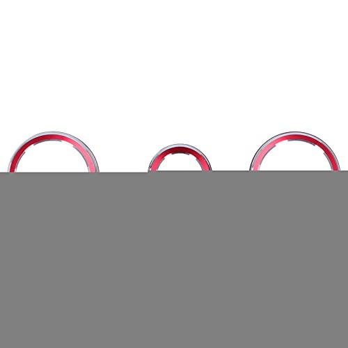 Cubierta de la perilla del interruptor de A/C, 3 uds, Cubierta de botón de aire acondicionado de audio, decoración, anillo de interruptor giratorio, ajuste para Forester