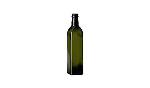 3 pezzi bottiglie vetro scuro UVAG bottiglia marasca olio liquore quadra capienza 1000 ml con tappo