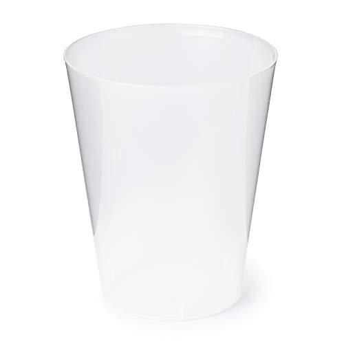 Campisol 400 stuks Sidra bekers, 500 ml, kunststof, onbreekbaar en herbruikbaar, ideaal voor dobbelstenen
