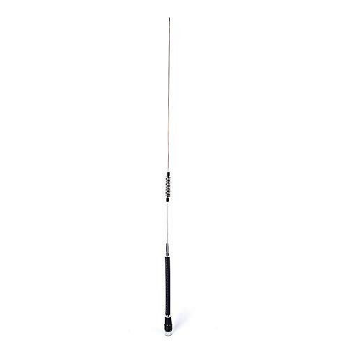 HYS Antena de radio CB de 27 MHz de 40,5 pulgadas PL259 conector de acero inoxidable para radio móvil de 11 metros