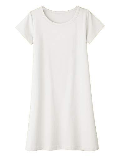 Arshiner Girls Dress Kids Short Sleeve Solid Color Casual T-Shirt Dress