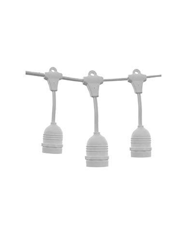 Guirnalda de guirnalda blanca colgante IP65 14,4 m para 15 bombillas E27