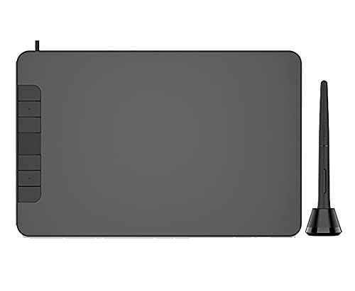 GYAM Tabletas Gráficas, Tablero De Dibujo Digital Profesional De 6X4 Pulgadas Tablero De Escritura Electrónico Nivel 8192, 6 Botones, Lápiz Óptico Sin Batería, Hogar Escuela Oficina
