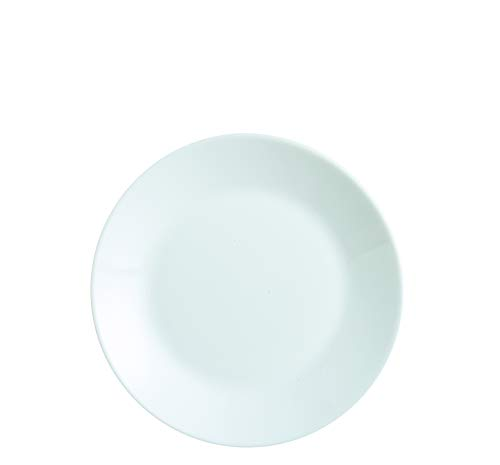 Dajar Zelie - Plato de Postre (18 cm, Cristal), Color Blanco