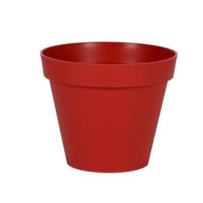Pot rond Toscane XL Rouge Rubis - 80x66cm 170L - EDA Plastiques