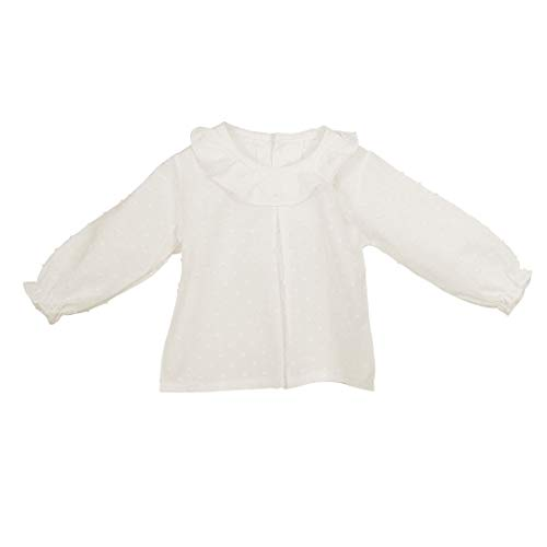 CALAMARO - Camisa PLUMETI BEBÉ bebé-niños Color: Crudo Talla: 12M