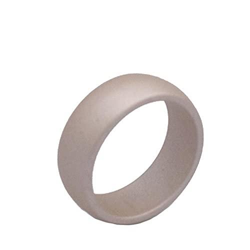 XDY 8,7 mm Gebogene Silikonring Herren Outdoor Sports Silikon Ring Unisex Ring Zubehör Gold,Gold,10#19.8mm