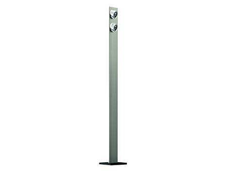 Evotec LIGHTWAVE LED Stehleuchte 2-flammig / 2700K / 12W / 720 Lumen, Aluminium, 12 W, Transparent, SL 1400