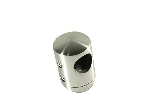 Querstabhalter Edelstahl V2A, zweiteilig, für RR 42,4 mm, mit Bohrung 12,2 mm