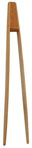 Pince à toast en bambou. 24 cm non colorée non aimantée pour attraper les toast au grille pain ou pour le service