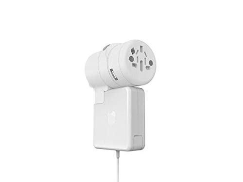 Oneadaptr Twist Plus World Adapter Duo Universal laadstation met 2 USB-poorten en een universele stekkerdoos en een voor Apple Magsafe 3,4 A Dual USB-oplader