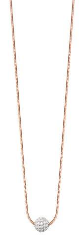 ESPRIT Jewels Damen-Halskette 925 Sterling Silber Glam Sphere Rose app.40+3cm ESNL92604B400