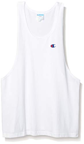 Champion LIFE Men's Heritage Muscle Tank, White, Medium