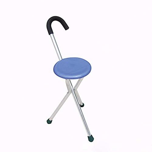 N\C Silla de muleta Cane Silla de bastón telescópica de Tres Patas con Silla de bastón, Adecuada para Ancianos discapacitados muleta-11.19