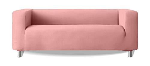 Funda de sofá Modelo Klippan Brazos Sofa Altos Tejido elástico Suave New York - Color 22 Rosa