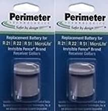 Perimeter Technologies Two-Pack Dog Fence Batteries for Invisible Fence Brand Receiver Collars by