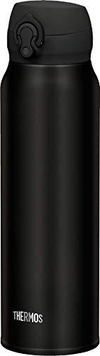THERMOS ThermosflascheEdelstahl Ultralight, schwarz 750ml, Isolierflasche extrem leicht 275g Trinkflasche 4035.232.075 spülmaschinenfest, Thermoskanne hät 10 Stunden heiß, 20 Stunden kalt, BPA-Free