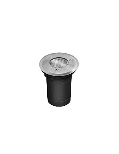 Kanlux BERG DL-35O - Foco empotrable para suelo (redondo, para bombillas GU10, máximo 35 W, sin bombilla, 220-240 V, 50/60 Hz, IP67, soporta hasta 2 toneladas, incluye caja de montaje, cambio rápido y fácil gracias a la innovadora tecnología clic, 48 mm) Corte de cristal, 10 cm Diámetro exterior de la cubierta: 09 mm. Altura total: 145 mm. Diámetro inferior: 80 mm. Diámetro superior: 99 mm.