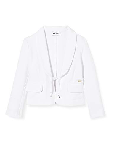 Mek Blazer Felpa Stretch Cappotto, Bianco (off White 01 900), 152 (Taglia Unica: 12A) Bambina