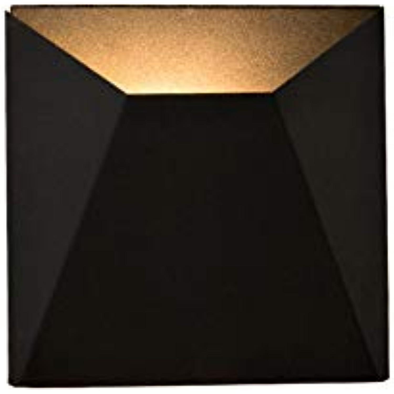 Wandlampe,Einfache LED Wandleuchte Nordic Wohnzimmer Wandleuchte, freie Kombination geometrische Wandleuchte - schwarz