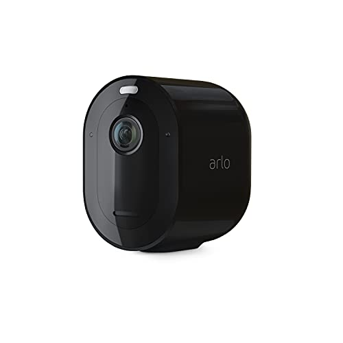 Arlo Pro 4 Spotlight Camera - 1 Pack - Wireless Security, 2K Video & HDR, Color Night Vision, 2 Way Audio, Wire-Free, Direct to WiFi No Hub Needed, Black - VMC4050B