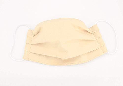 Mund- & Nasenmaske - Creme UNI - Baumwollmaske waschbar