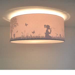 Plafondlamp Kinderkamer Roze Dandelion Silhouet | Schaduwlamp Land of Kids