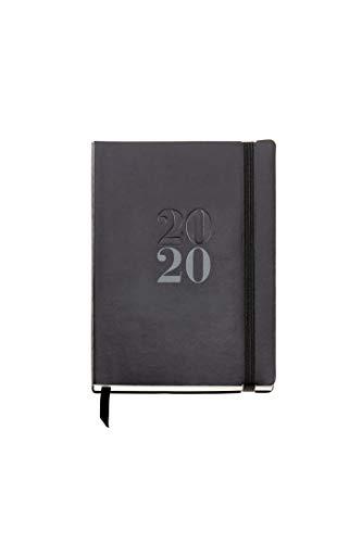 Miquelrius 33100 - Agenda 2020, Semana Vista Horizontal (122 x 168 mm), Luxor Negro, Castellano