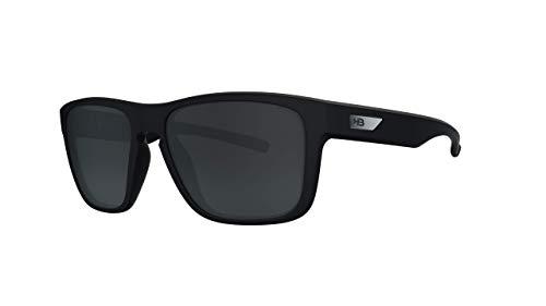 Óculos de sol H-Bomb HB AdultoUnissex Preto Matte/Cinza polarizado Único