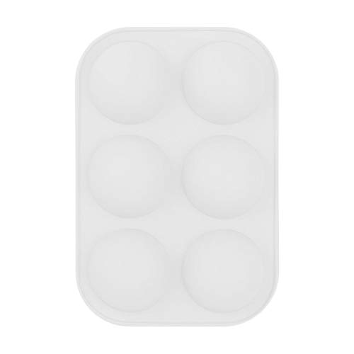ZWX Medium Semi Sphere Silicone Mold, 2 Packs Half Sphere Silicone Baking Molds for Making Chocolate, Cake, Jelly, Dome Mousse (2pcs, white)
