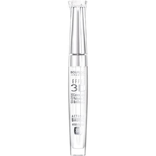 Bourjois - Gloss Effet 3D - Lucidalabbra Ultra Luminoso e Idratante Fino a 8 Ore - 18 Trasparent Oniric - 5.7 ml