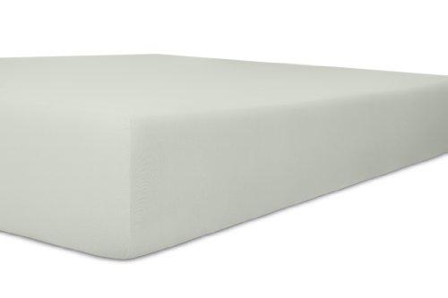 kneer KULTUR DER NACHT Organic-Cotton-Stretch Spannbetttuch 140/200-160/220 cm Farbe Platin