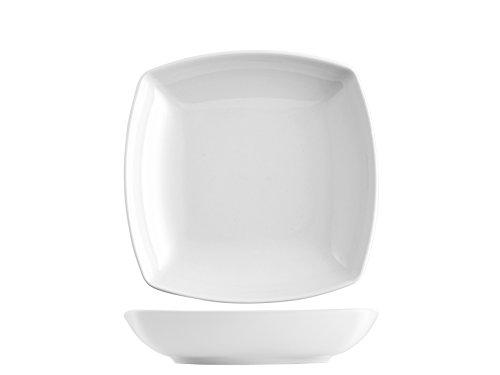 Saturnia Tokio Set Piatti Fondi, Porcellana, Bianco, 6 unità