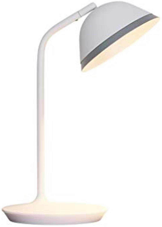 PHUAN LED-Tischlampe Schlafzimmer 2700K Gelbe Lichtschreibtischlampe, Wei