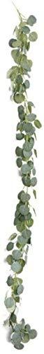 Pkfinrd 180 cm kunstmatige decoratie eucalyptuszijde zilver Dollar eucalyptus hanging garland groene party bruiloft decoratie binnenfabriek