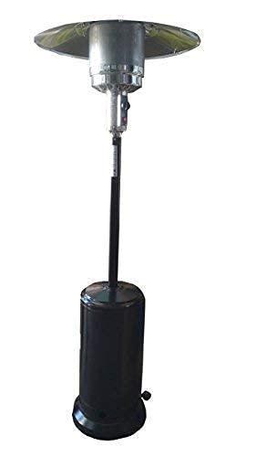 Poêle a Gaz GPL a Parasol chauffant Extérieur 14 kW H 220 cm Terrasse Heather COULEUR NOIRE
