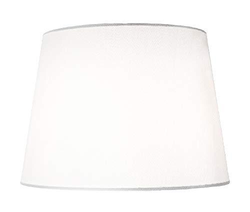 Pantalla para lámpara con forma tradicional de tambor mediana de 12' en tela de seda de imitación blanca y elegante. por Happy Homewares