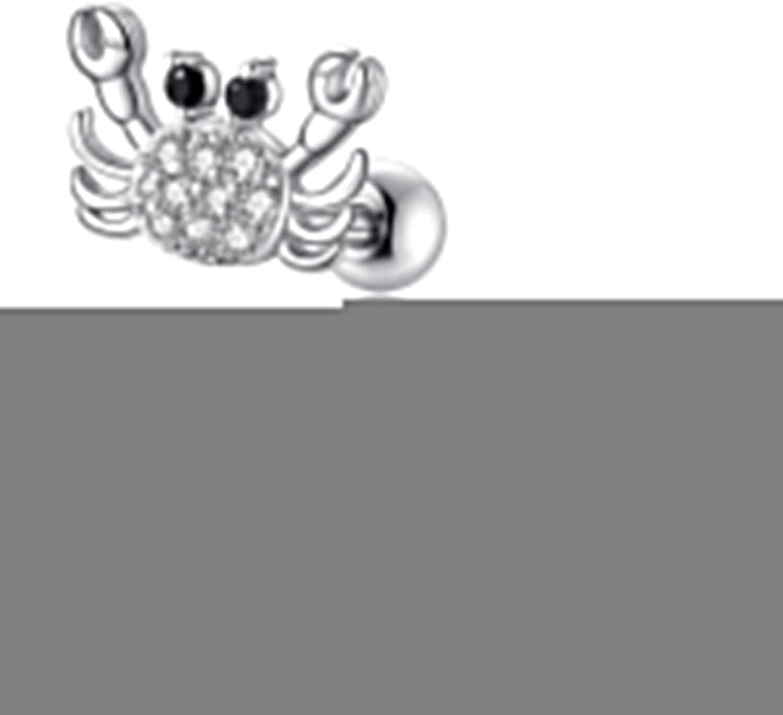 16g 18g Cartilage Earring Surgical Steel Moon Star Forward Helix Earring Lovely Heart Butterfly CZ Ear Piercing Jewelry