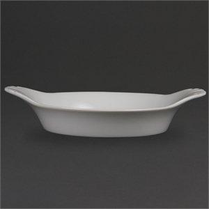 Olympia Whiteware Rond Motif Plats 220 mm 47 (H) x 220 (L) x 177 (P) mm. Blanc. Quantité : 6.