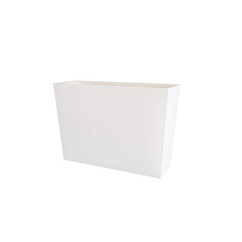 Teraplast Schio Cassa Alta 100cm Fioriera, Plastica 100%, Bianco, 100 cm