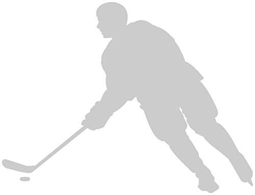 Samunshi® Aufkleber Eishockey Spieler Motorradaufkleber in 6 Größen und 25 Farben (15x11,4cm silbermetalleffekt)