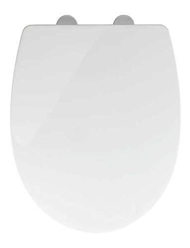 WENKO WC-Sitz Toilettendeckel Tavola mit Easy Close Absenkautomatik 36x45cm Weiß