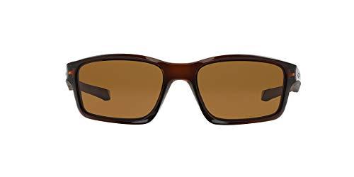 Oakley - Gafas de sol Rectangulares Chainlink, Polished Rootbeer/Bronze Polarized (S3)