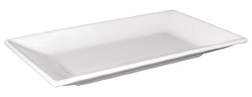 Olympia Lot de 2 plateaux rectangulaires en porcelaine Blanc 310 x 180 mm