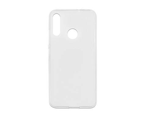 etuo Hülle für Motorola Moto E6 Plus - Hülle FLEXmat Case - Weiß Handyhülle Schutzhülle Etui Case Cover Tasche für Handy